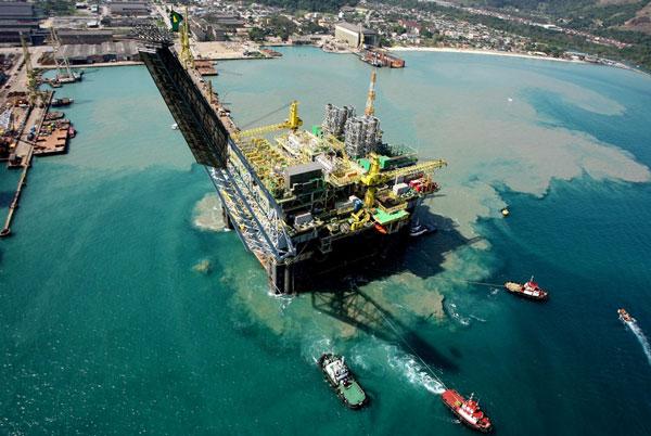 Produção óleo e gás no Brasil