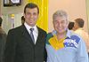 Astronauta brasileiro foi uma das atrações do stand da Andrade Gutierrez